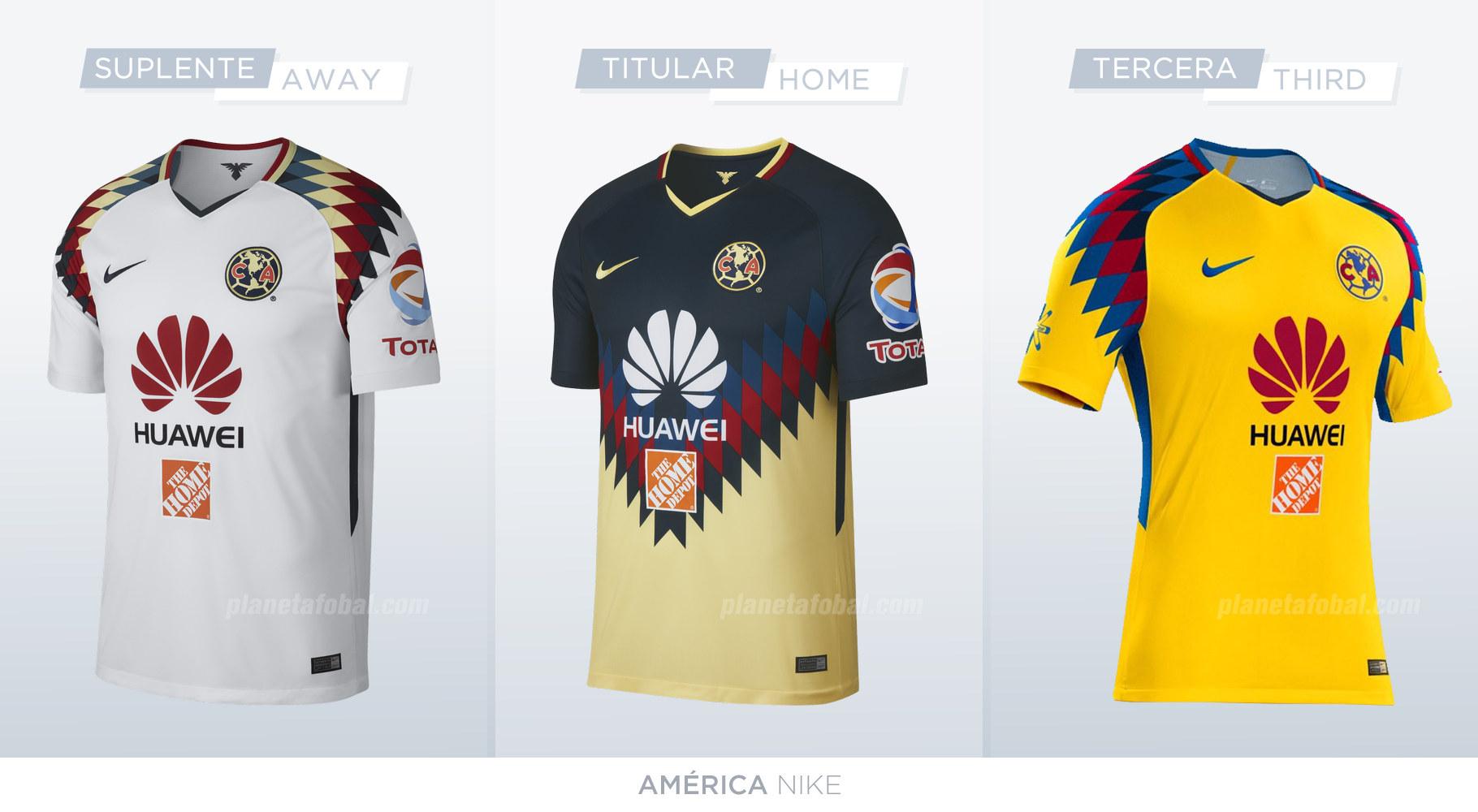 Camisetas de la liga mx 2017 18 planeta fobal for Cuarto uniforme del america 2018