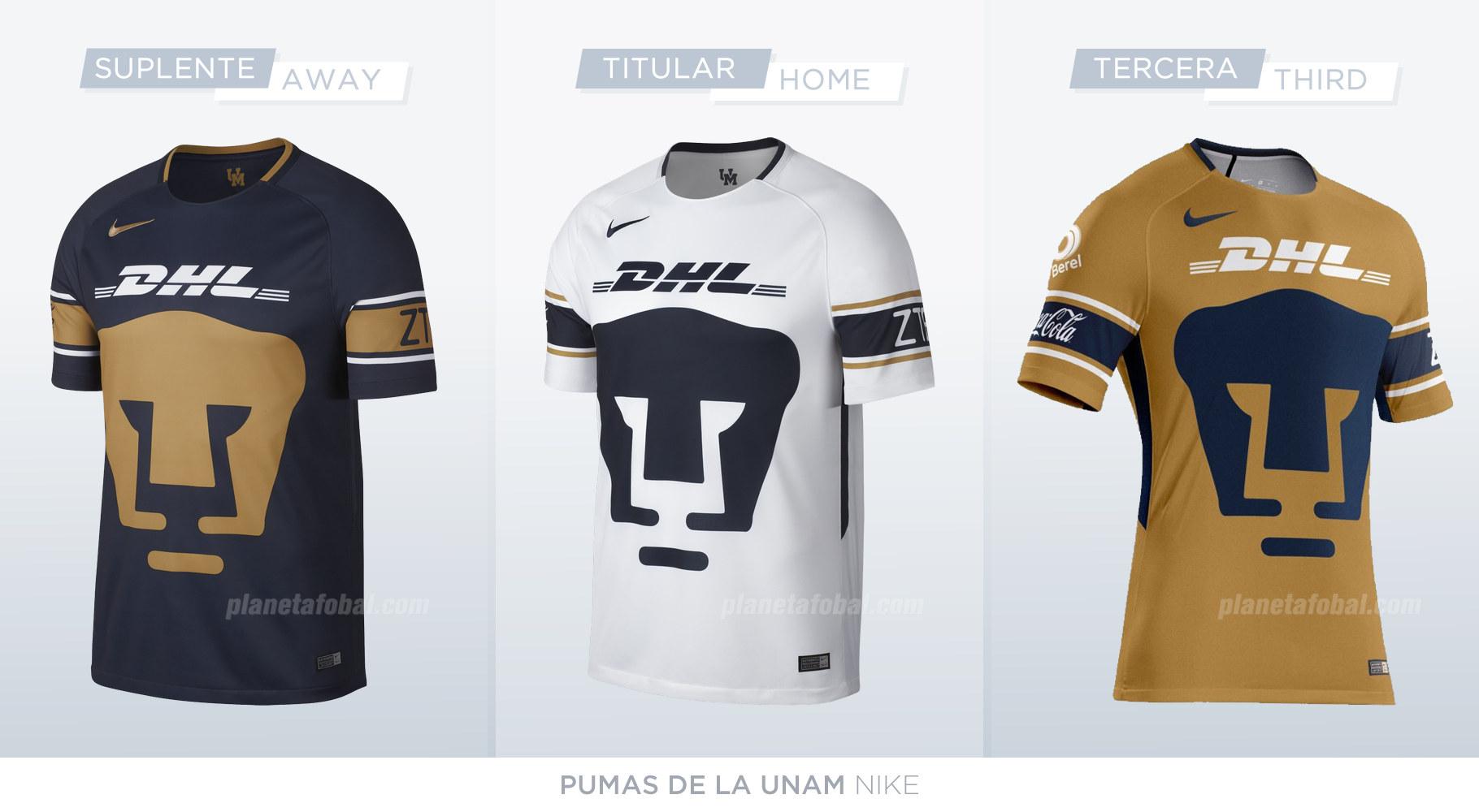 Camisetas de los Pumas de la UNAM (Nike) d452c69882225