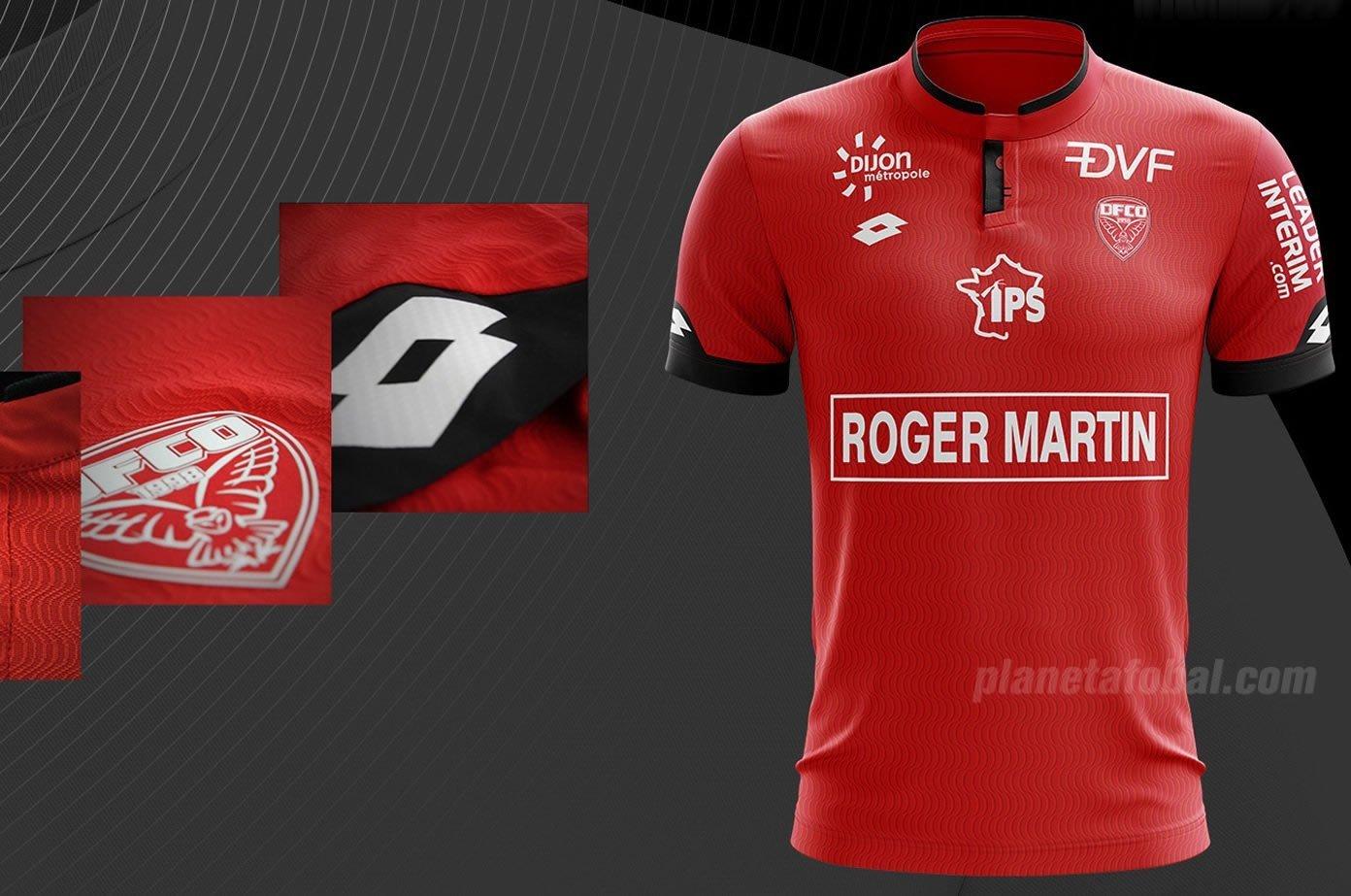 Camiseta titular del Dijon FCO | Foto Web Oficial