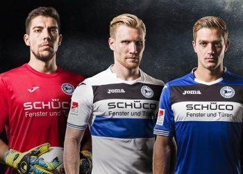Camisetas Joma 2017-18 del Arminia Bielefeld | Foto Web Oficial