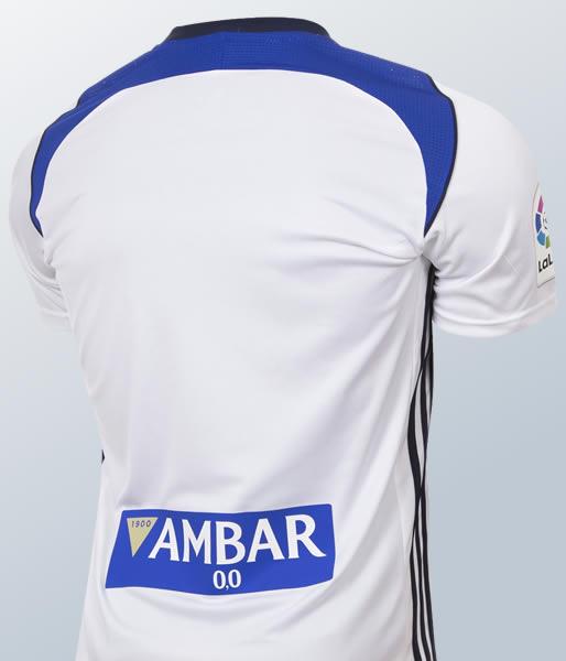 Camiseta titular Adidas 2017-18 edl Real Zaragoza | Imagen Twitter Oficial
