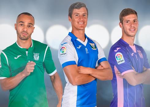 Nuevas equipaciones del CD Leganés | Foto Web Oficial