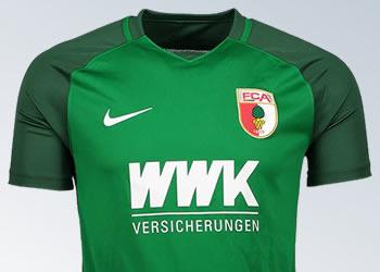 Camiseta suplente Nike 2017-18 del FC Augsburg | Foto Web Oficial