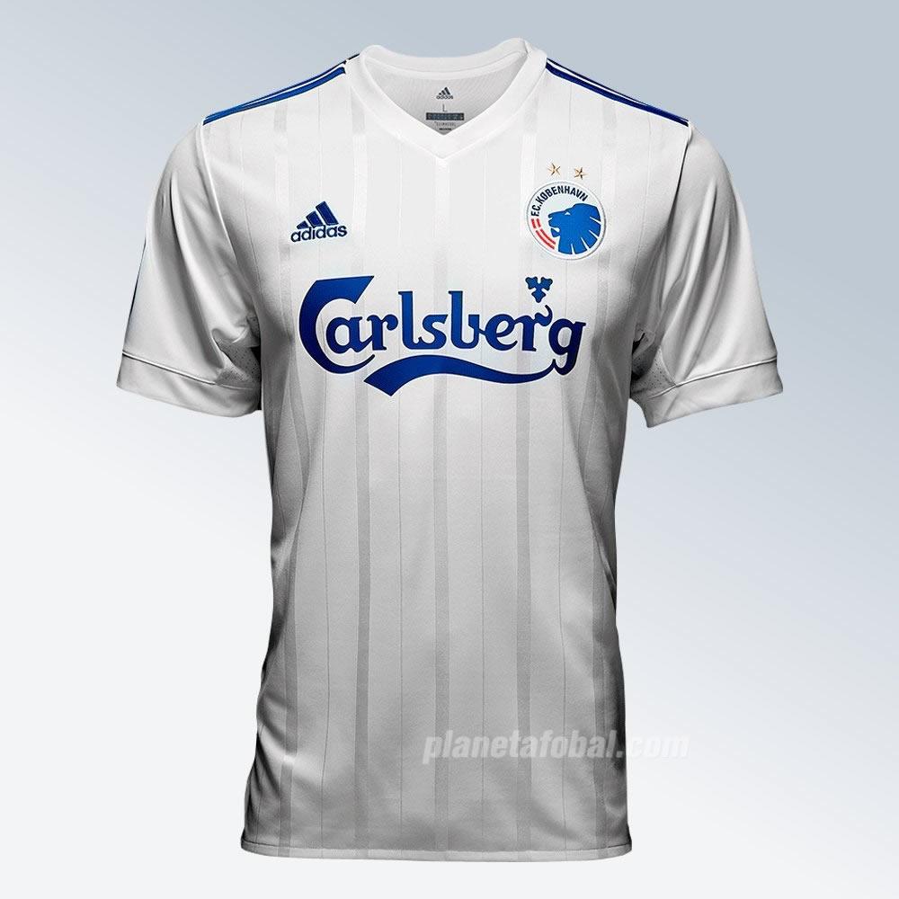 Camiseta titular Adidas 2017-18 del FC Copenhague | Foto Web Oficial
