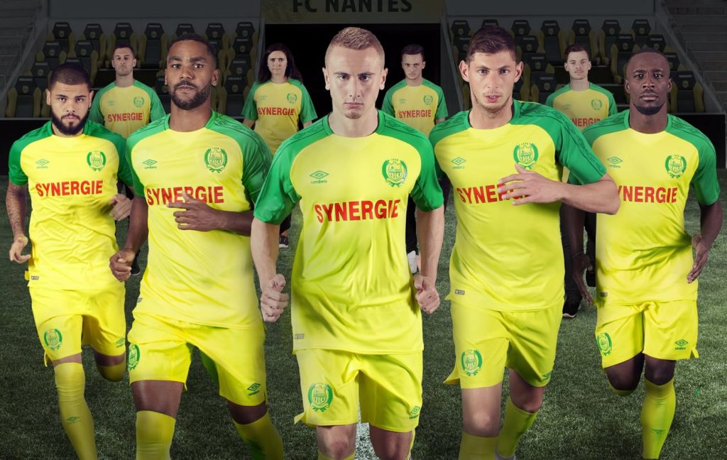 camiseta titular umbro del fc nantes 2017 2018 planeta fobal. Black Bedroom Furniture Sets. Home Design Ideas