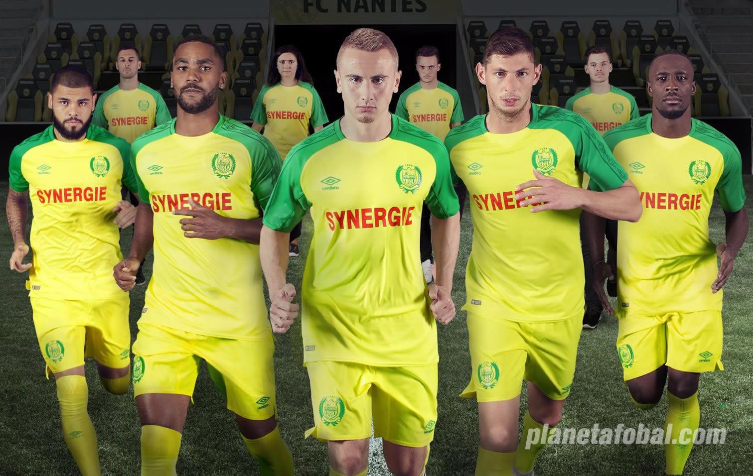Nueva camiseta titular del FC Nantes | Foto Umbro