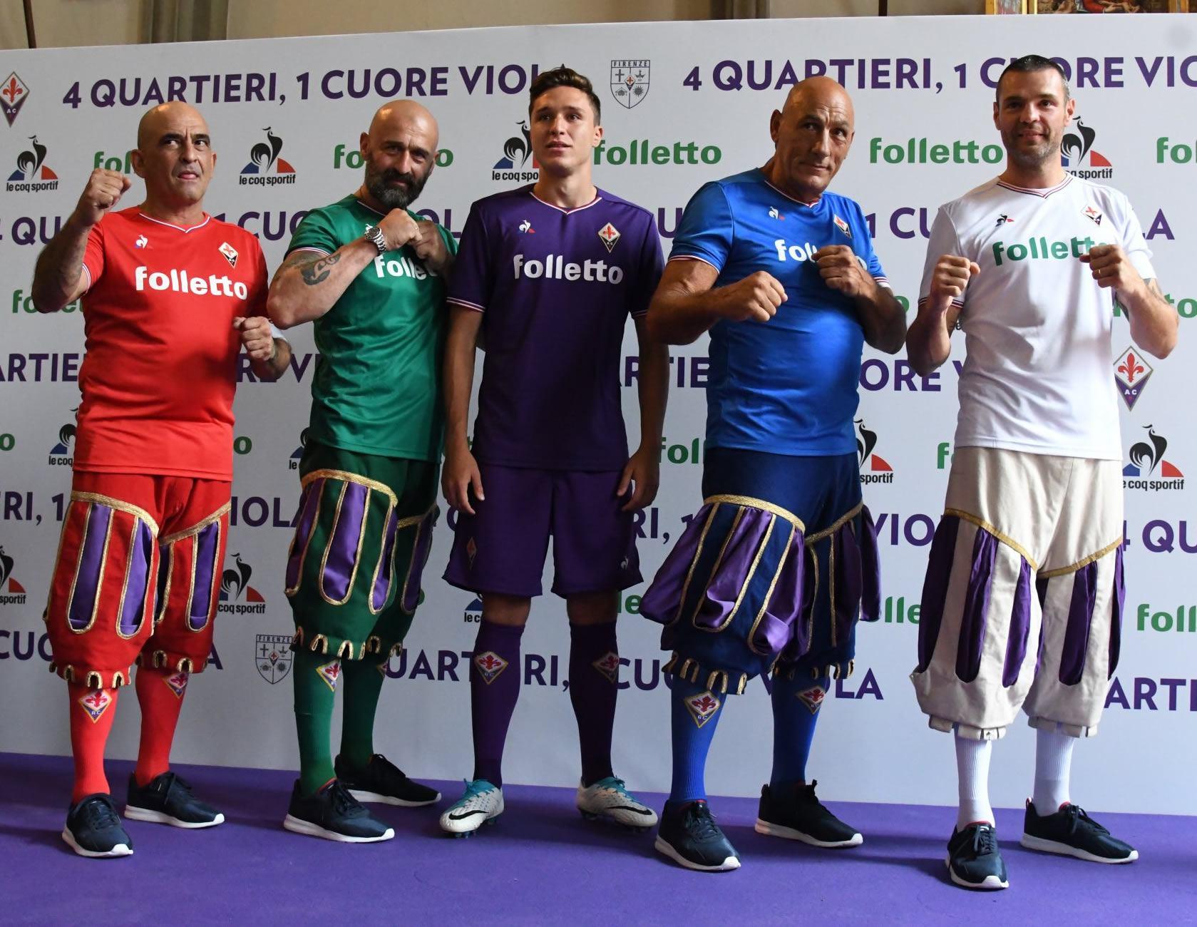 Camisetas de la Fiorentina | Foto Web Oficial