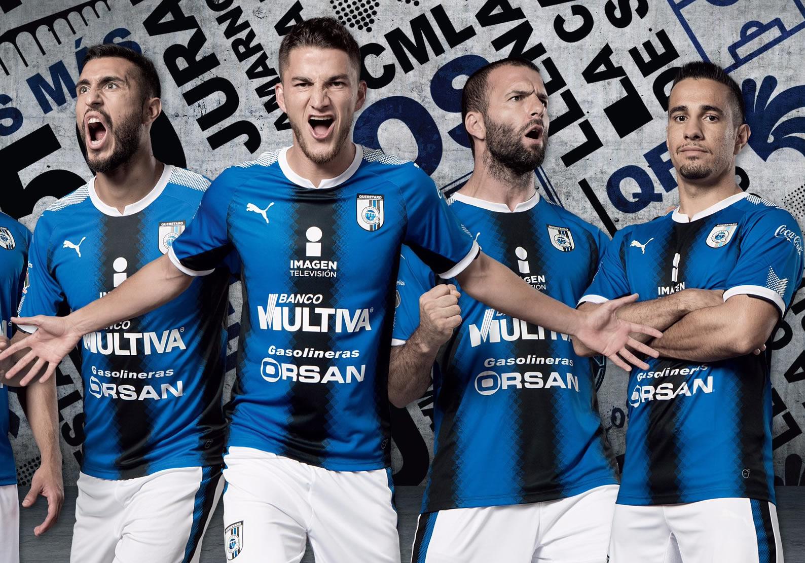 Camiseta titular Puma del Club Querétaro 2017 2018 bb069a58140dc