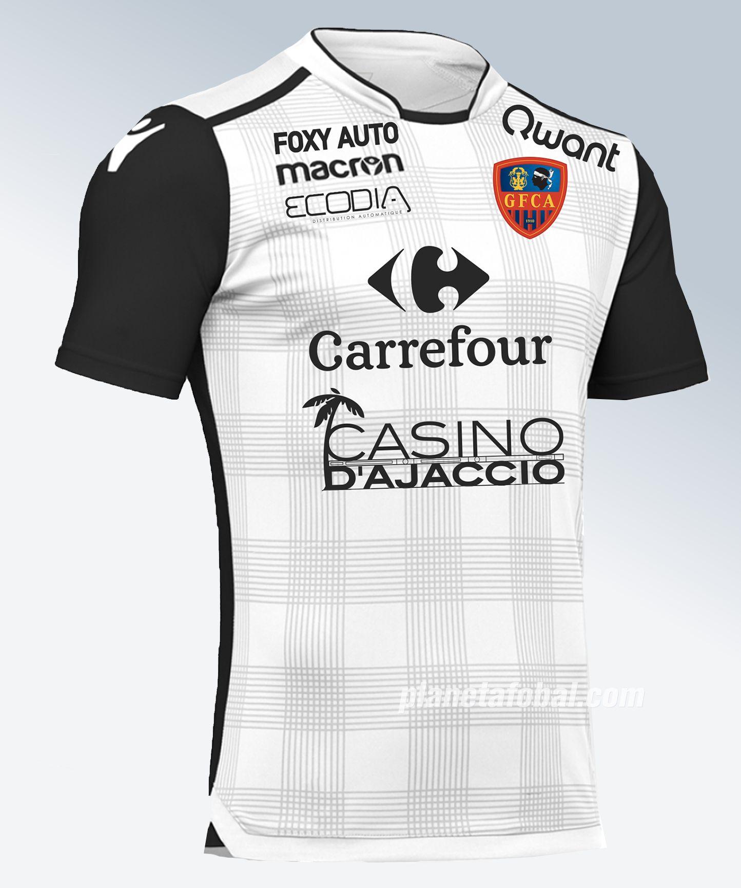 Tercera camiseta Macron del Gazélec Ajaccio 2017 2018  44abe1bd476