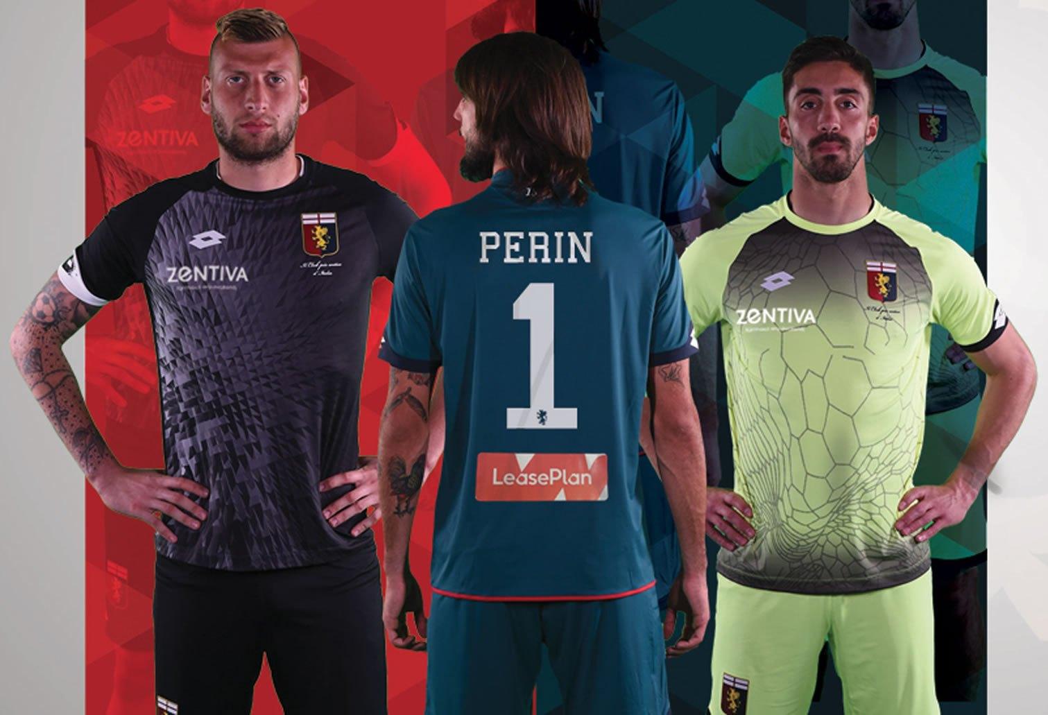 Camisetas Lotto para los arqueros del Genoa | Foto Web Oficial