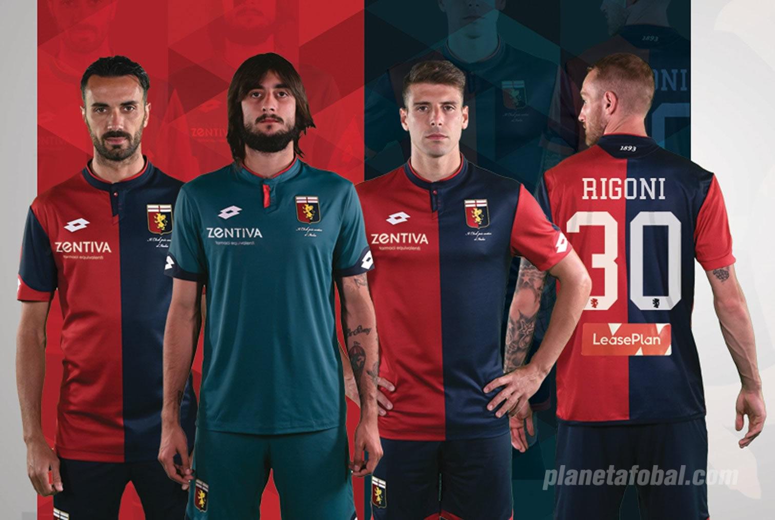 Camiseta titular Lotto del Genoa | Foto Web Oficial