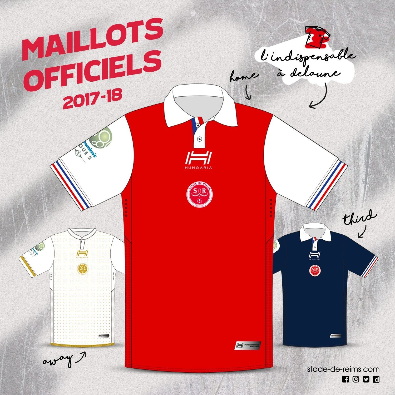 Nuevos kits del Stade de Reims | Foto Web Oficial