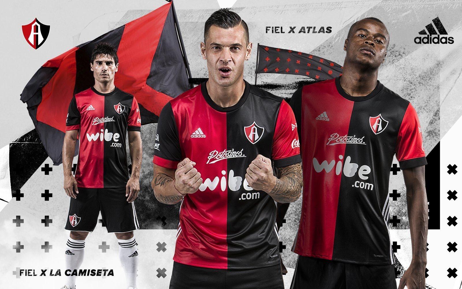 Nueva camiseta titular Adidas del Atlas | Foto Twitter Oficial