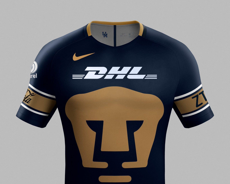 8c4a4364c Camisetas Nike de los Pumas de la UNAM 2017/2018