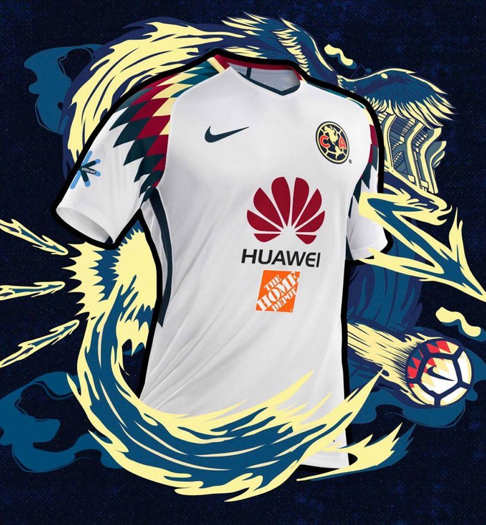 Camiseta suplente nike del club am rica 2017 2018 for Cuarto uniforme del america 2018