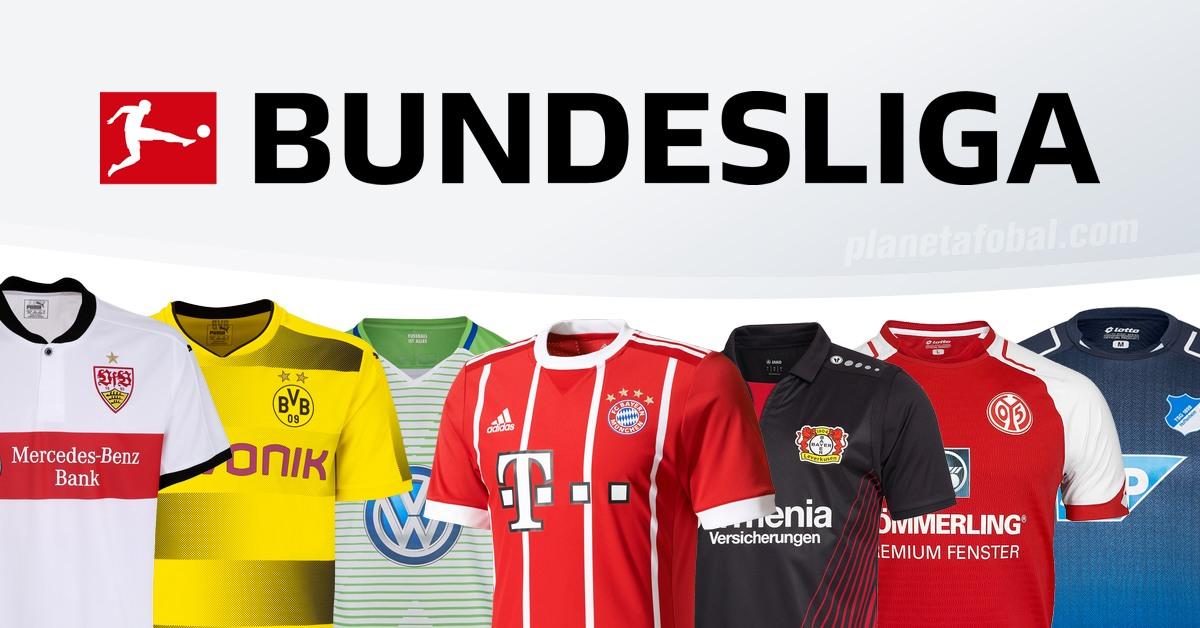 Las camisetas de la Bundesliga de Alemania 2017-18