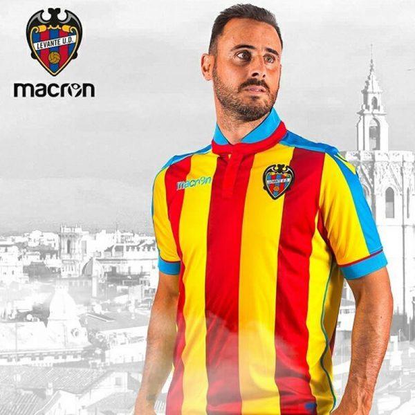 "Camiseta ""senyera"" del Levante UD | Foto Web oficial"