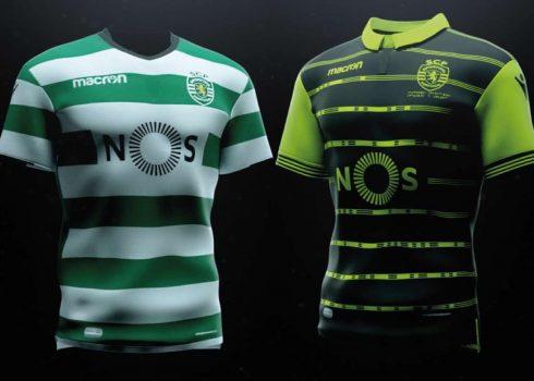 Nuevas camisetas Macron del Sporting CP | Foto Web Oficial