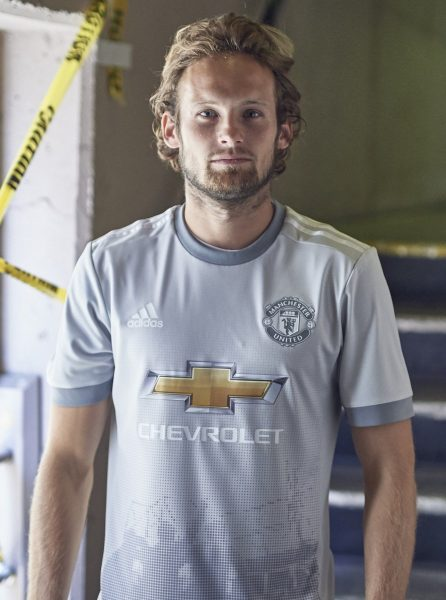 Blind con la tercera camiseta del United para 2017/2018 | Foto Adidas
