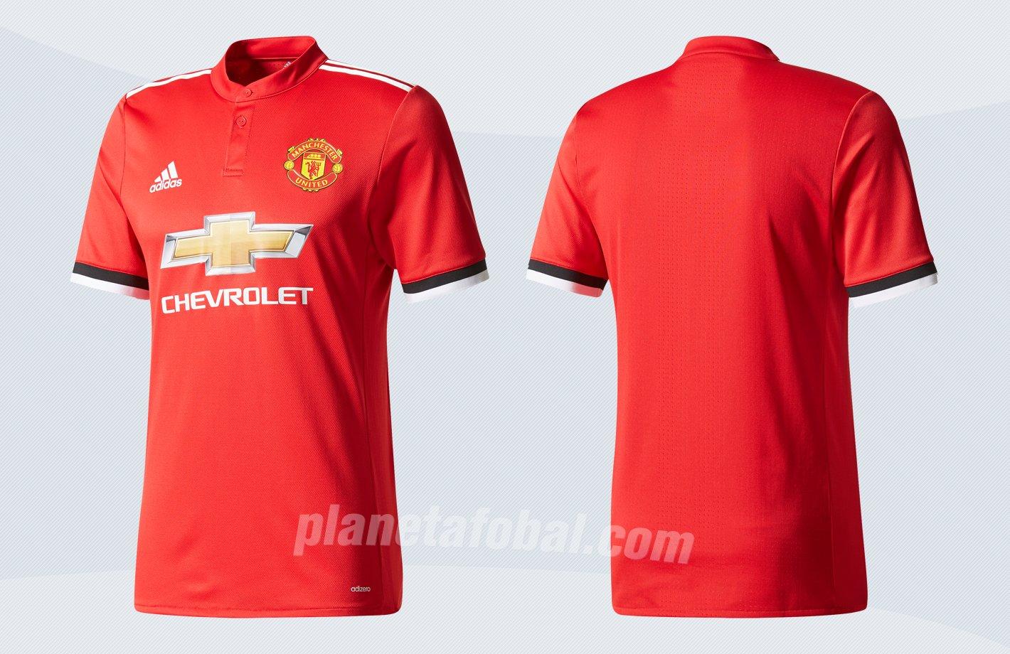 Nueva camiseta titular 2017-18 del United | Imágenes Adidas