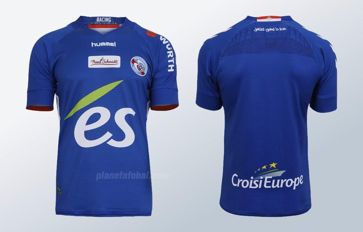 Camiseta titular Hummel del RC Strasbourg | Foto Web Oficial