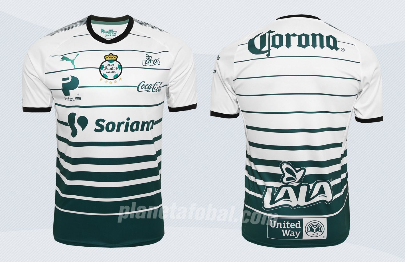 Nueva camiseta titular del Santos Laguna | Imágenes Web Oficial