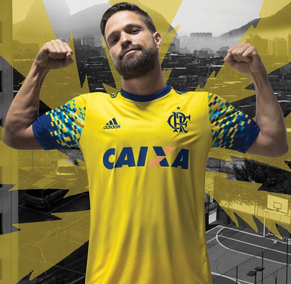 Diego con el tercer kit del Flamengo | Foto Adidas