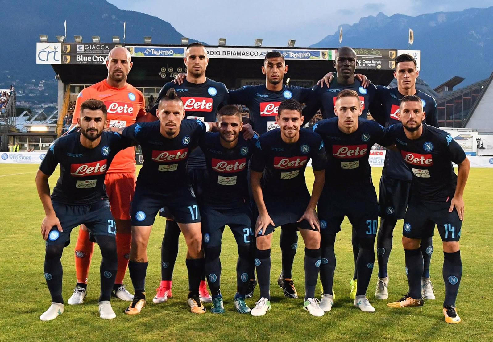 Napol estrenó la tercera camiseta ante Chievo en Trentino | Foto Twitter Oficial