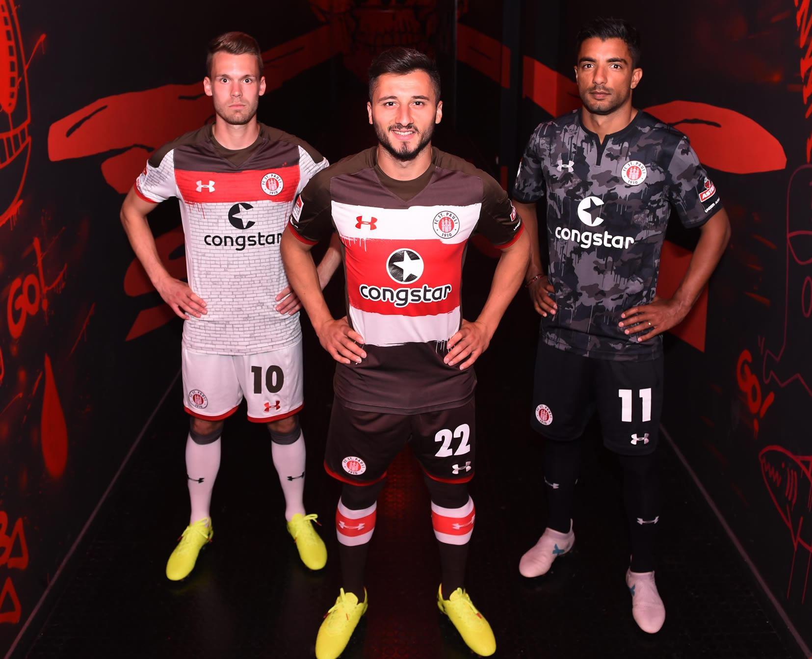 Camisetas Under Armour 2017-18 del St Pauli | Foto Web Oficial