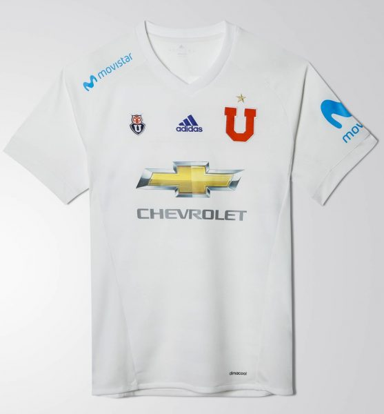 Camiseta suplente 2017-18 de la U de Chile | Foto Adidas