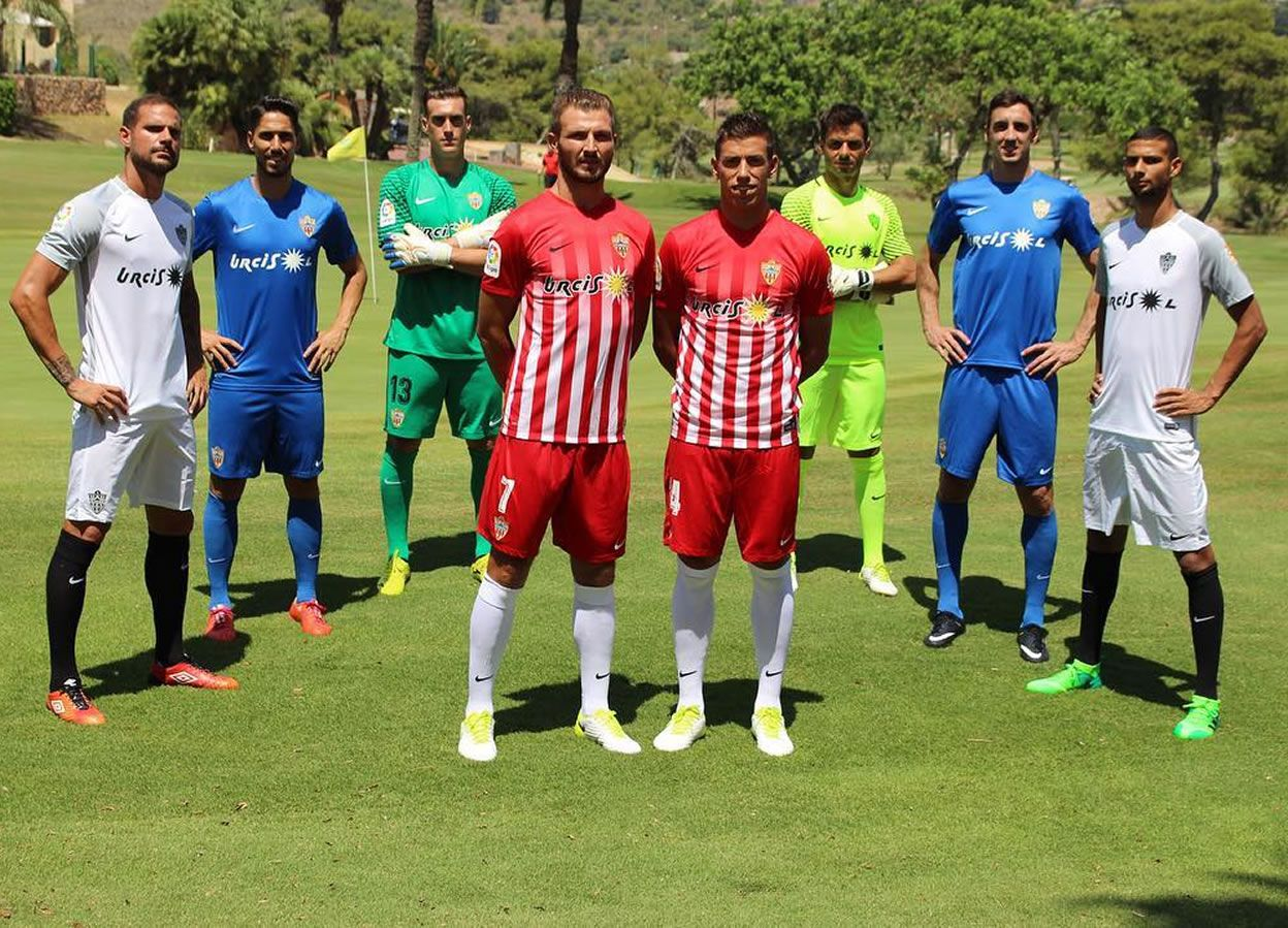 Nuevas equipaciones del Almeria | Foto Web Oficial