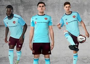 Camiseta suplente Umbro del Heart of Midlothian   Foto Web Oficial