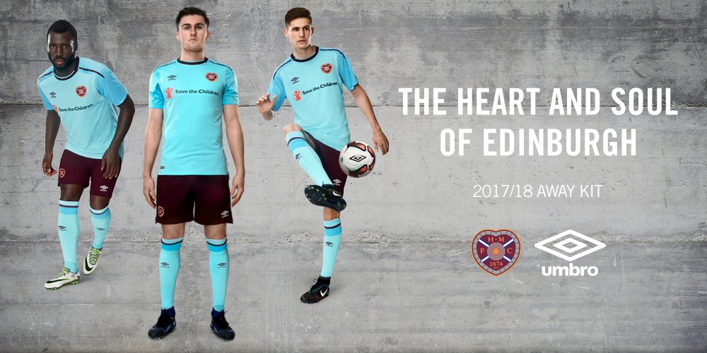 Camiseta suplente Umbro del Heart of Midlothian | Foto Web Oficial