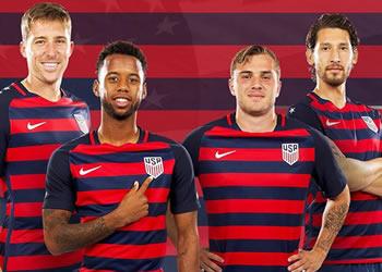 Camiseta de Estados Unidos para la Copa Oro 2017 | Foto Twitter @USSoccer
