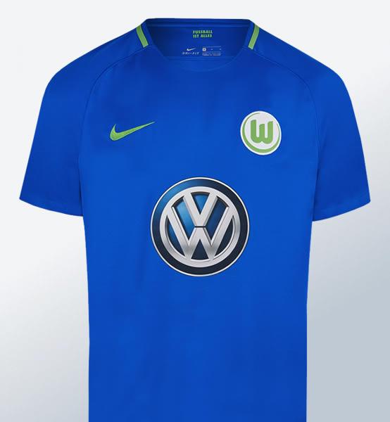 Camiseta suplente Nike del Wolfsburg | Foto Web Oficial
