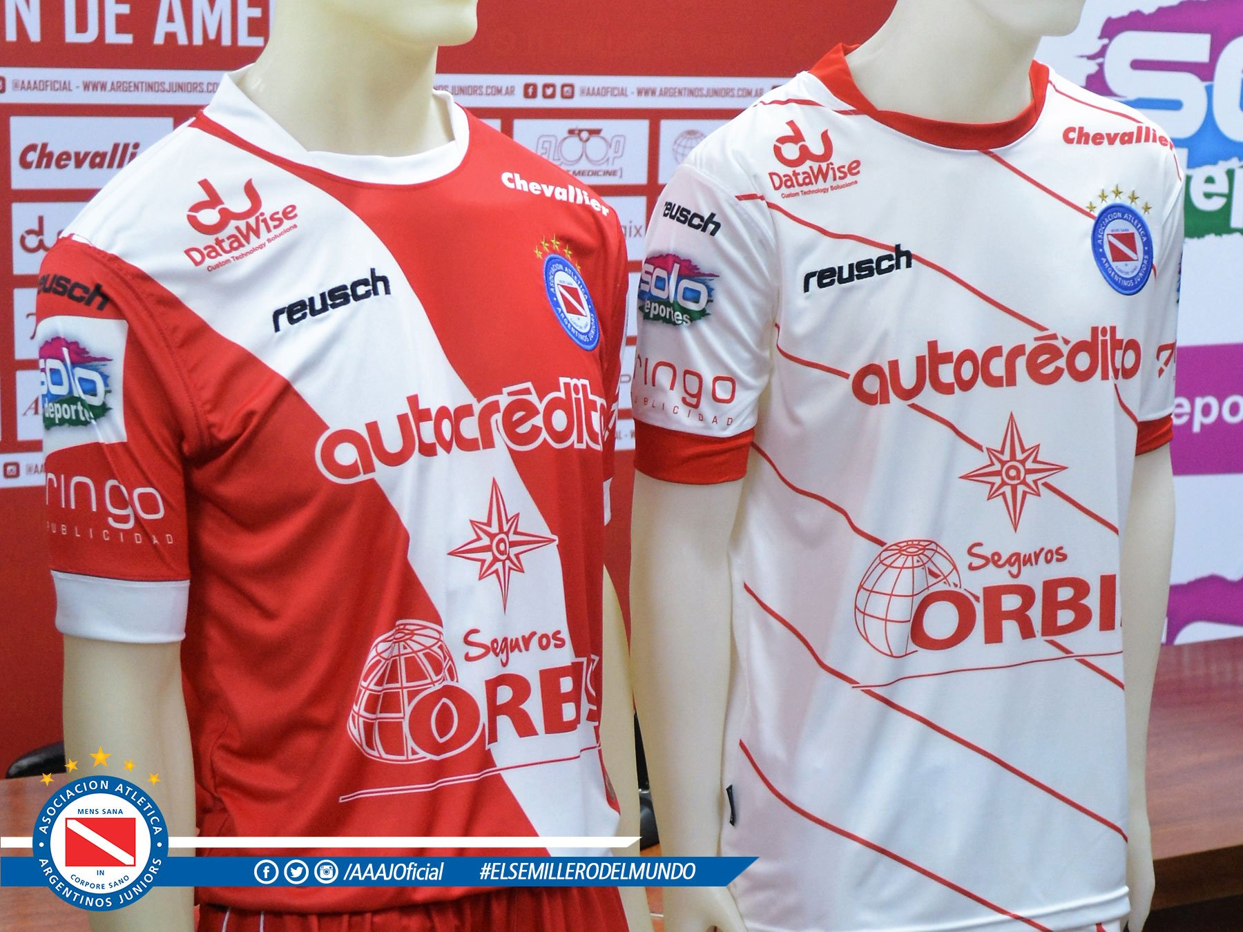 Nuevas camisetas de Argentinos Juniors | Foto Twitter Oficial