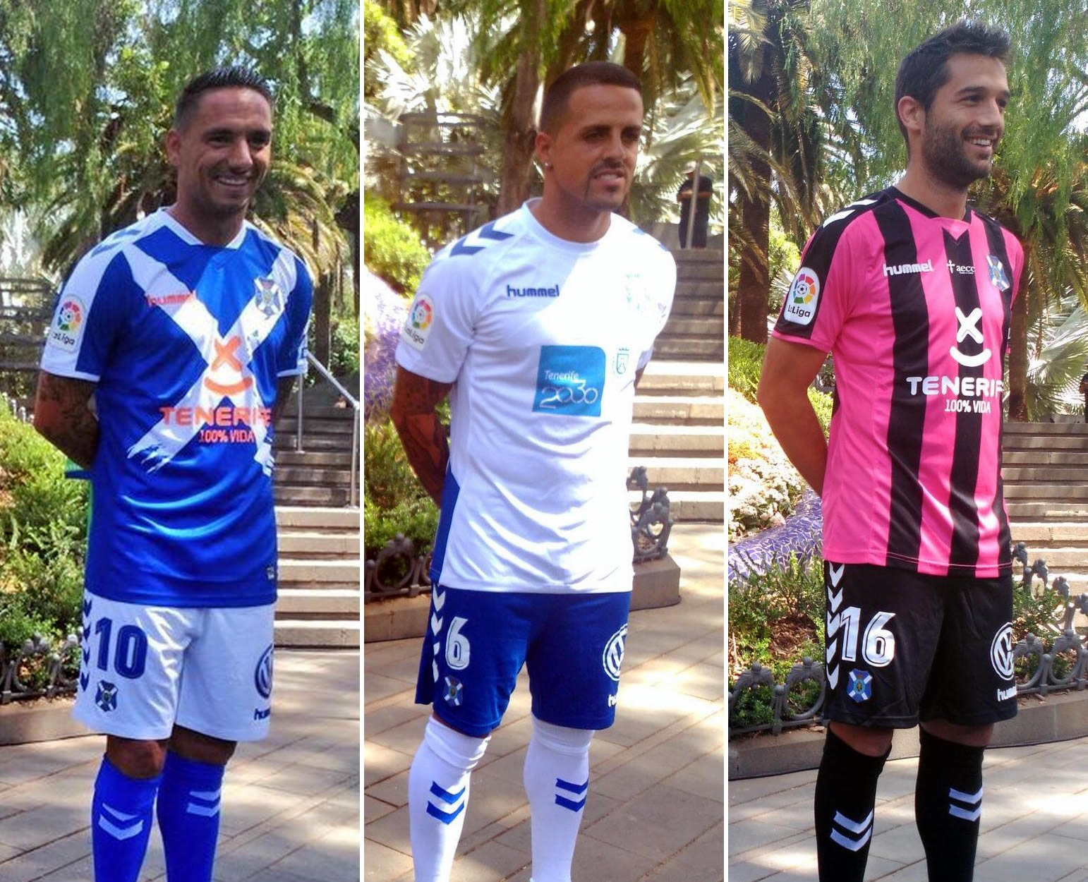 Nuevas camisetas del CD Tenerife | Foto Twitter Oficial