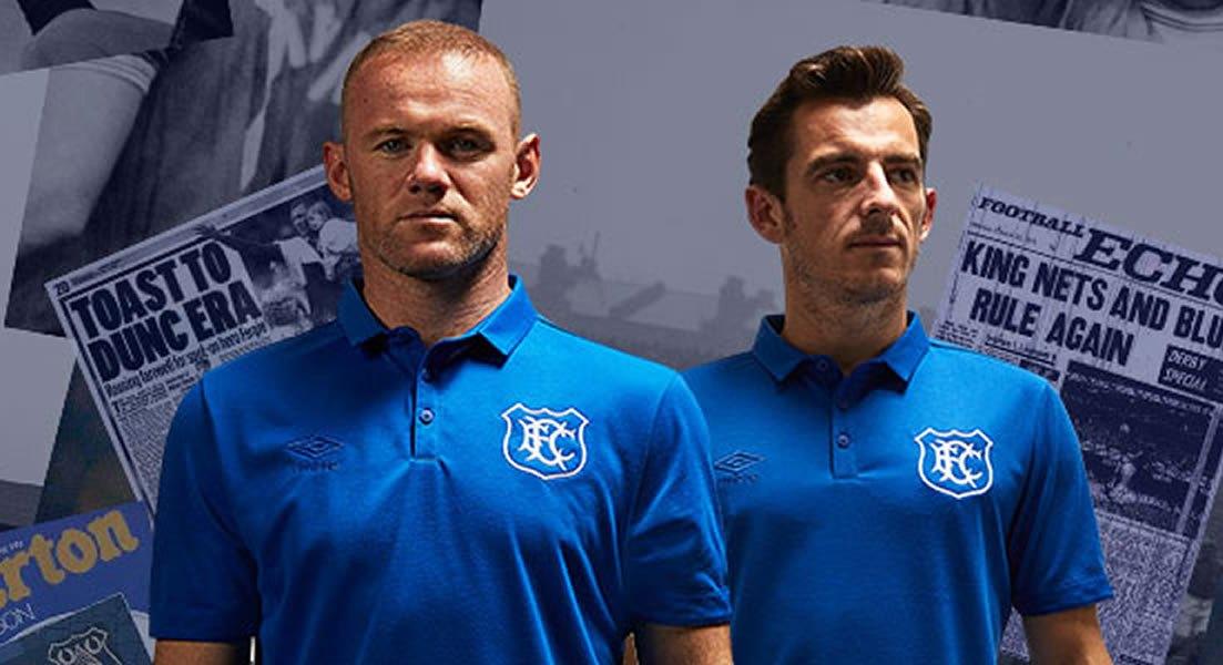 El Everton presentó su camiseta Umbro en homenaje a los 125 años del Goodison Park