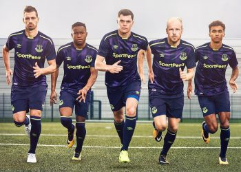 Tercera camiseta Umbro del Everton FC | Imagen Web Oficial