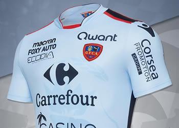 Camiseta suplente del Gazélec Ajaccio | Foto Web Oficial