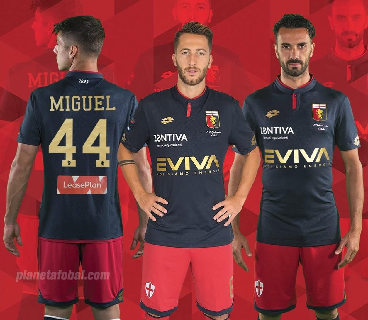 Tercera camiseta Lotto del Genoa | Foto Web Oficial