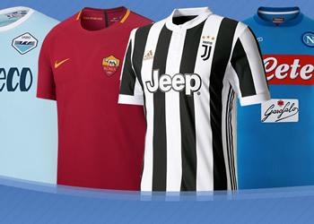 Las camisetas de la Serie A Tim de Italia