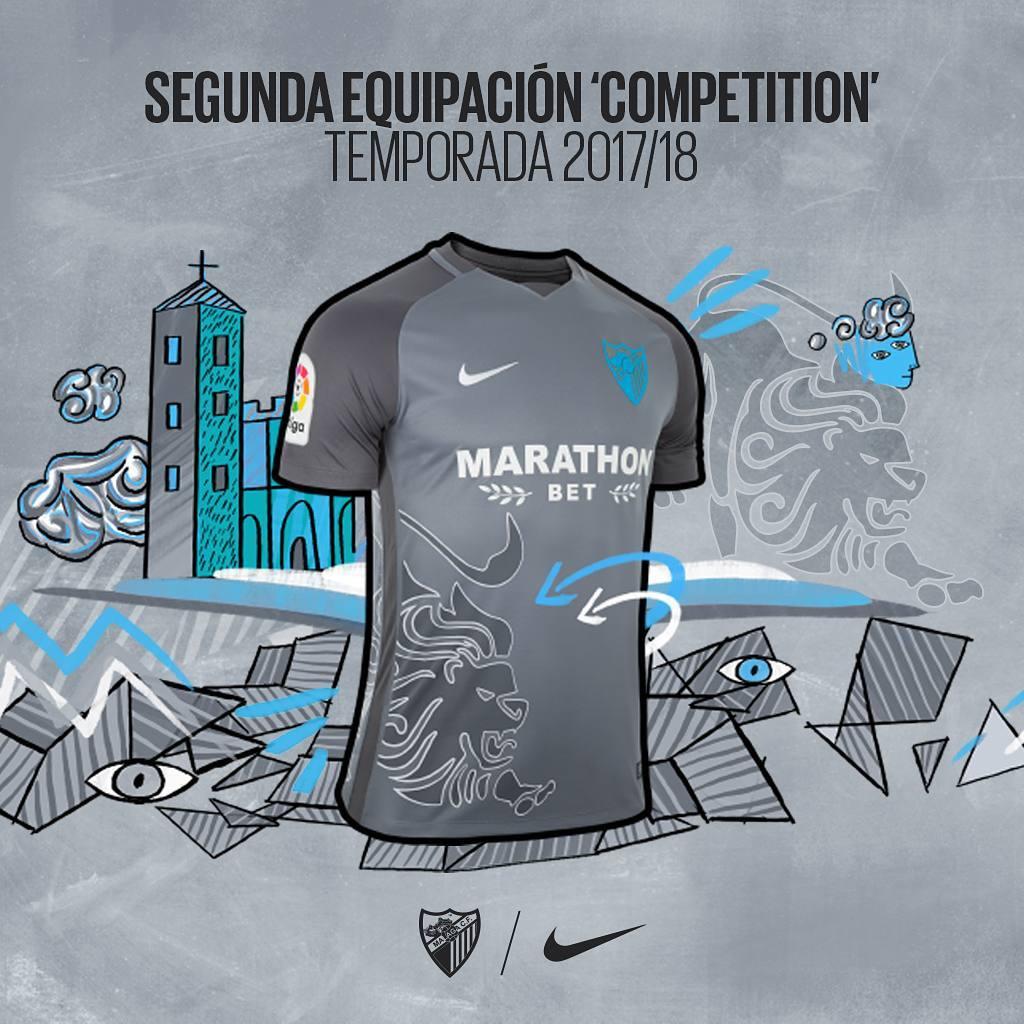 Camiseta suplente del Nike del Málaga CF | Foto Web Oficial
