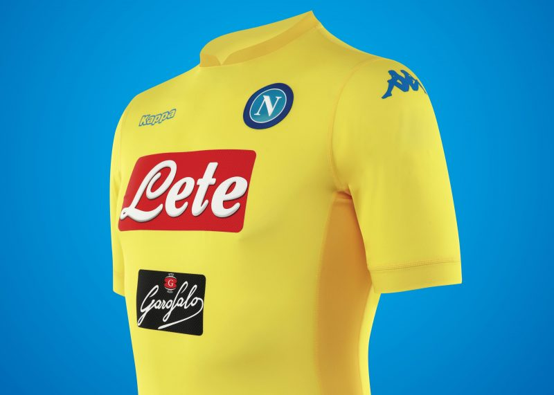 Camiseta suplente del Napoli | Foto Web Oficial
