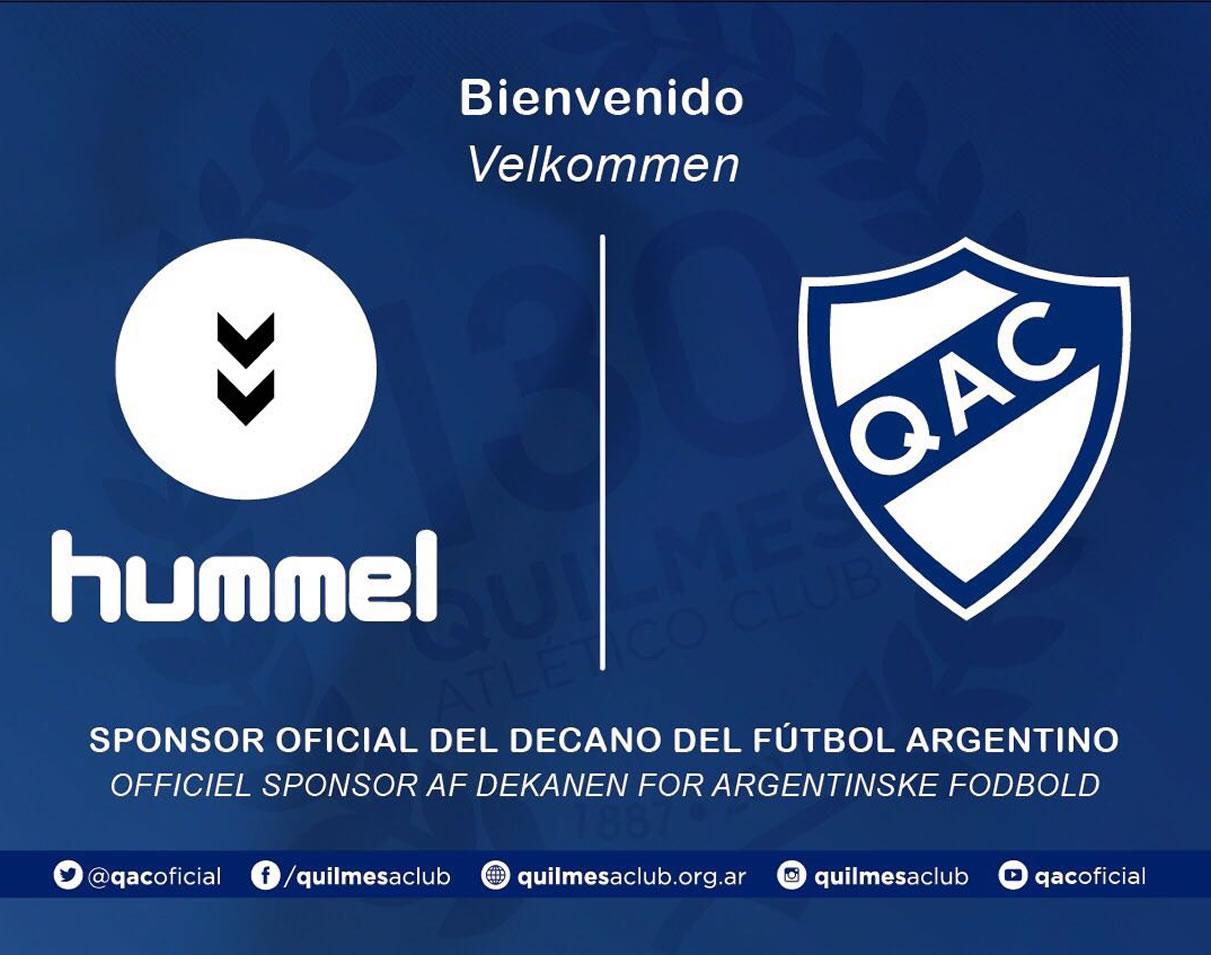 Quilmes le dio la bienvenida a Hummel | Foto Twitter Oficial