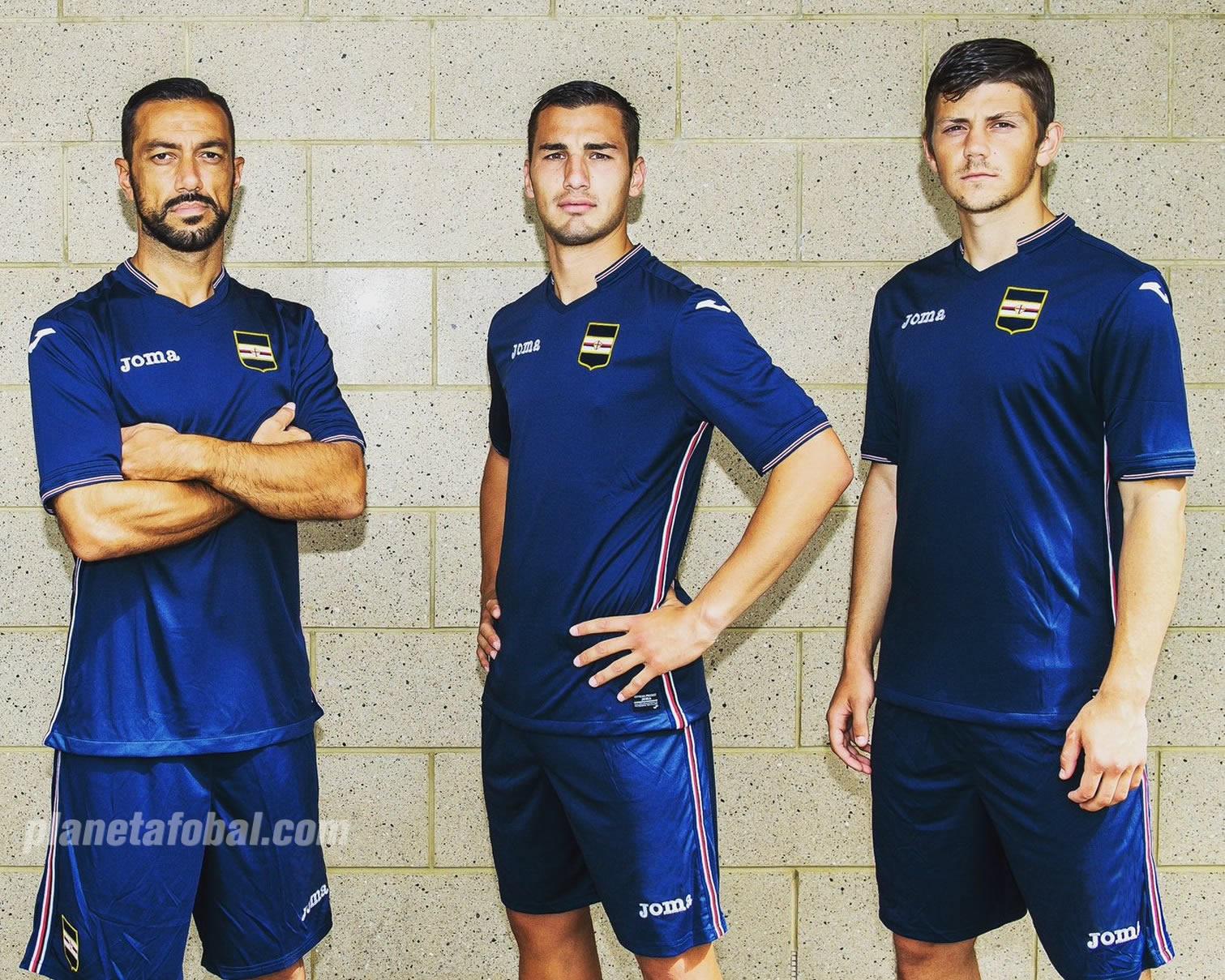 Tercera camiseta Joma de la Sampdoria | Foto Web Oficial