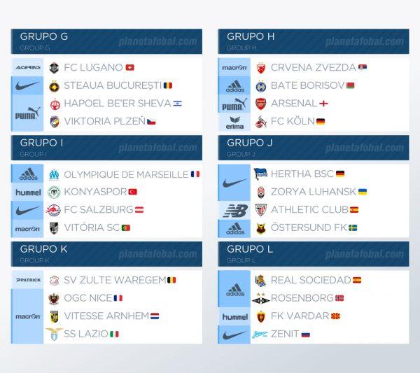 Marcas deportivas de la UEFA Europa League 2017-18