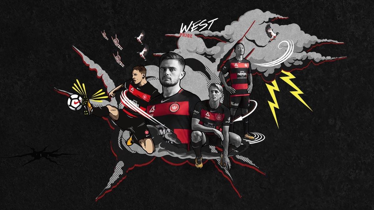 Camiseta titular del Western Sydney Wanderers FC | Foto Web Oficial
