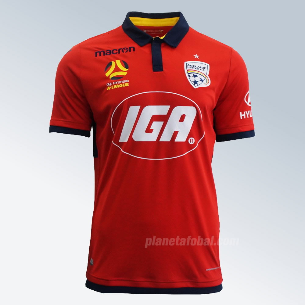 Camiseta titular Macron del Adelaide United | Foto Web Oficial