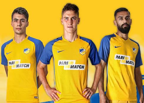 Camiseta titular Nike del APOEL Nicosia | Foto Web Oficial